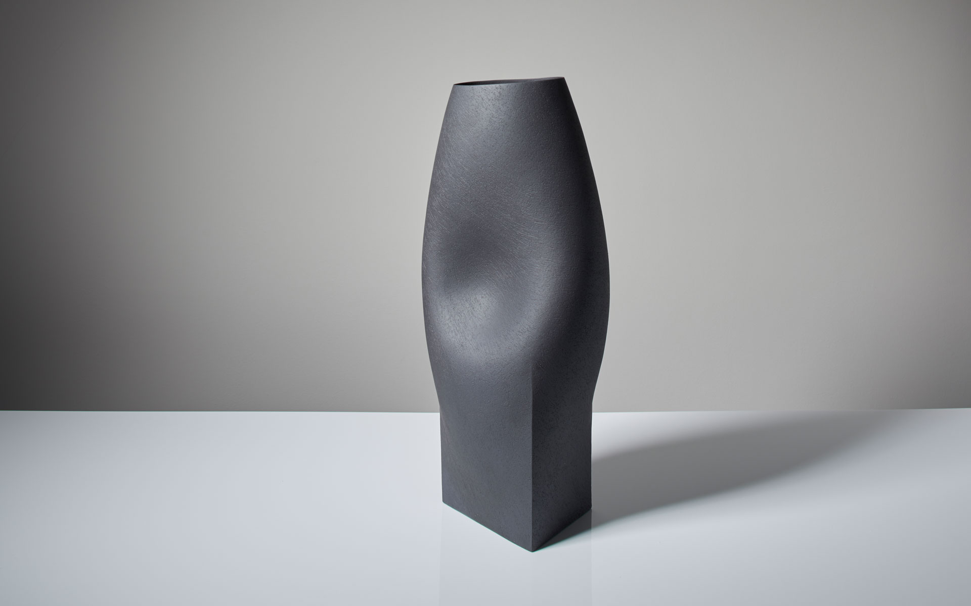 Black Vessel with triangular base