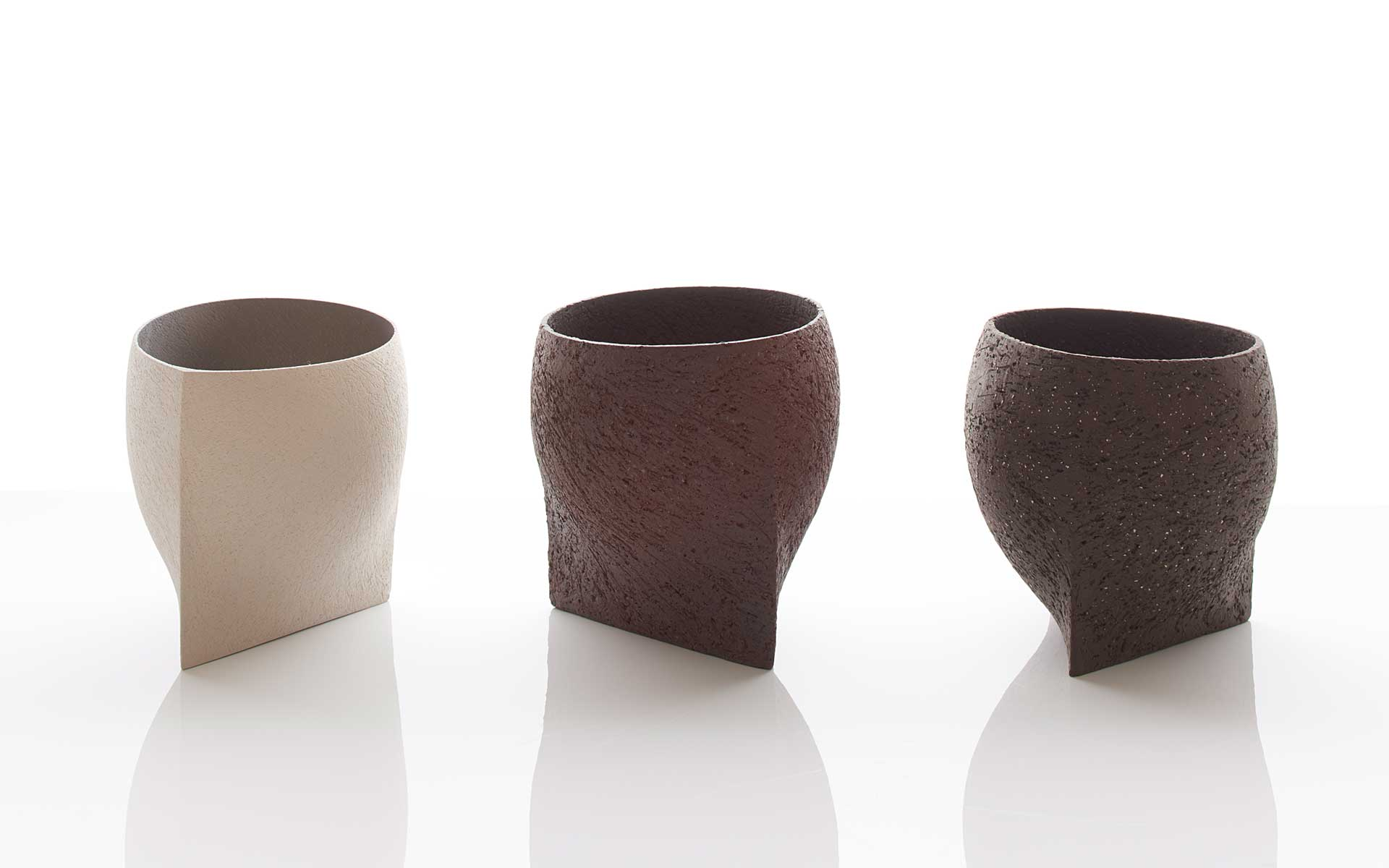 Three Angular Bowls