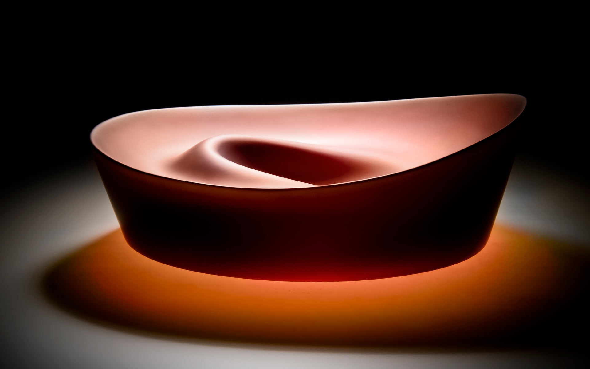Ripple Series - Red Bowl Form